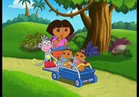Dora with little twins game